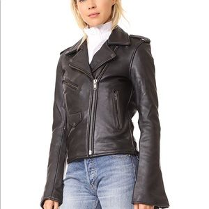 ISO Understated leather bell sleeve jacket